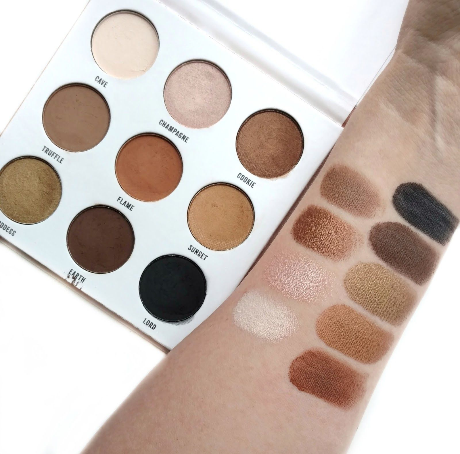 Academy of Colour Eyeshadow Palette Swatches from Kohls Sfx Makeup, Makeup Swatches, Drugstore Makeup