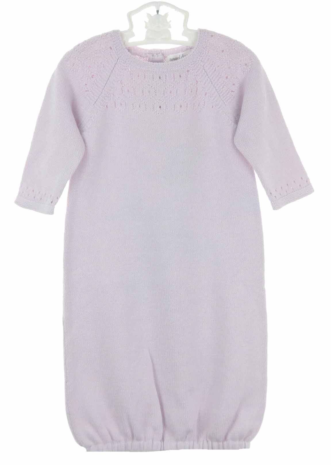 68250cf4c NEW Angel Dear Lavender Cotton Pointelle Knit Gown with Openwork ...