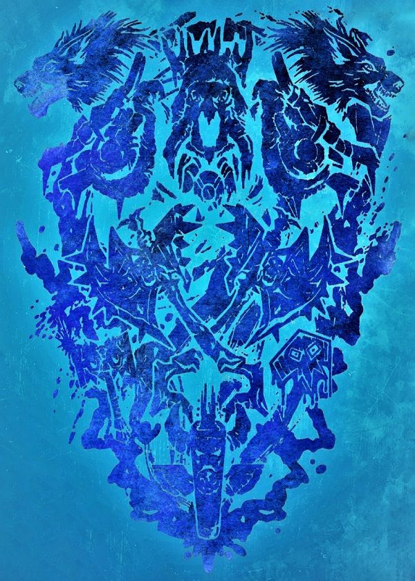 World Of Warcraft Metallic Character Classes Displate Posters