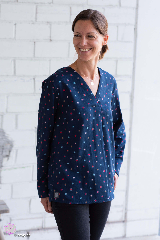 Eine bequeme Langarm-Bluse selber nähen!   Blusen für ...