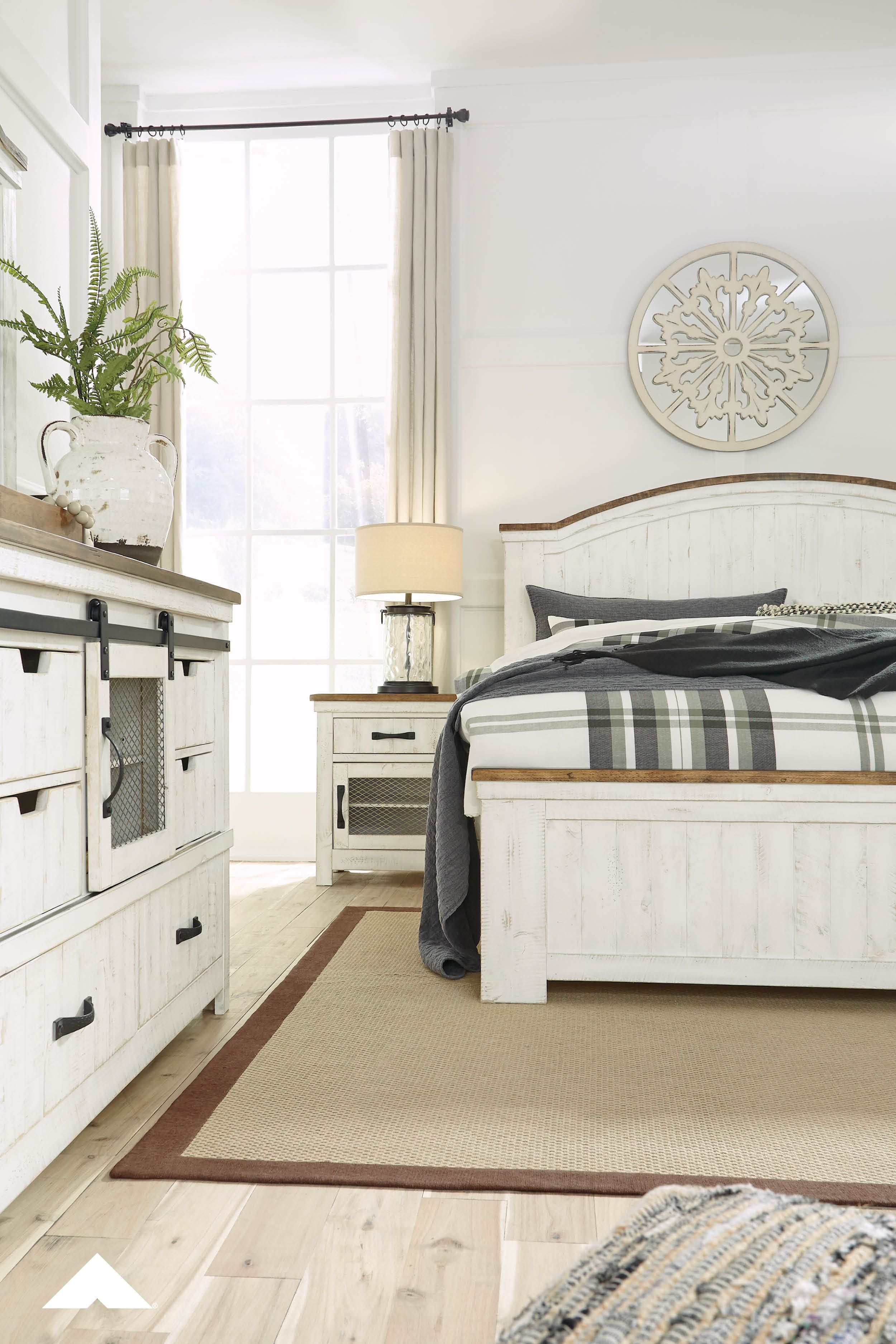 Wystfield Master Bedroom By Ashley Furniture Beaming With Rustic Cott Wood Bedroom Furniture Sets Modern Bedroom Furniture Distressed White Bedroom Furniture