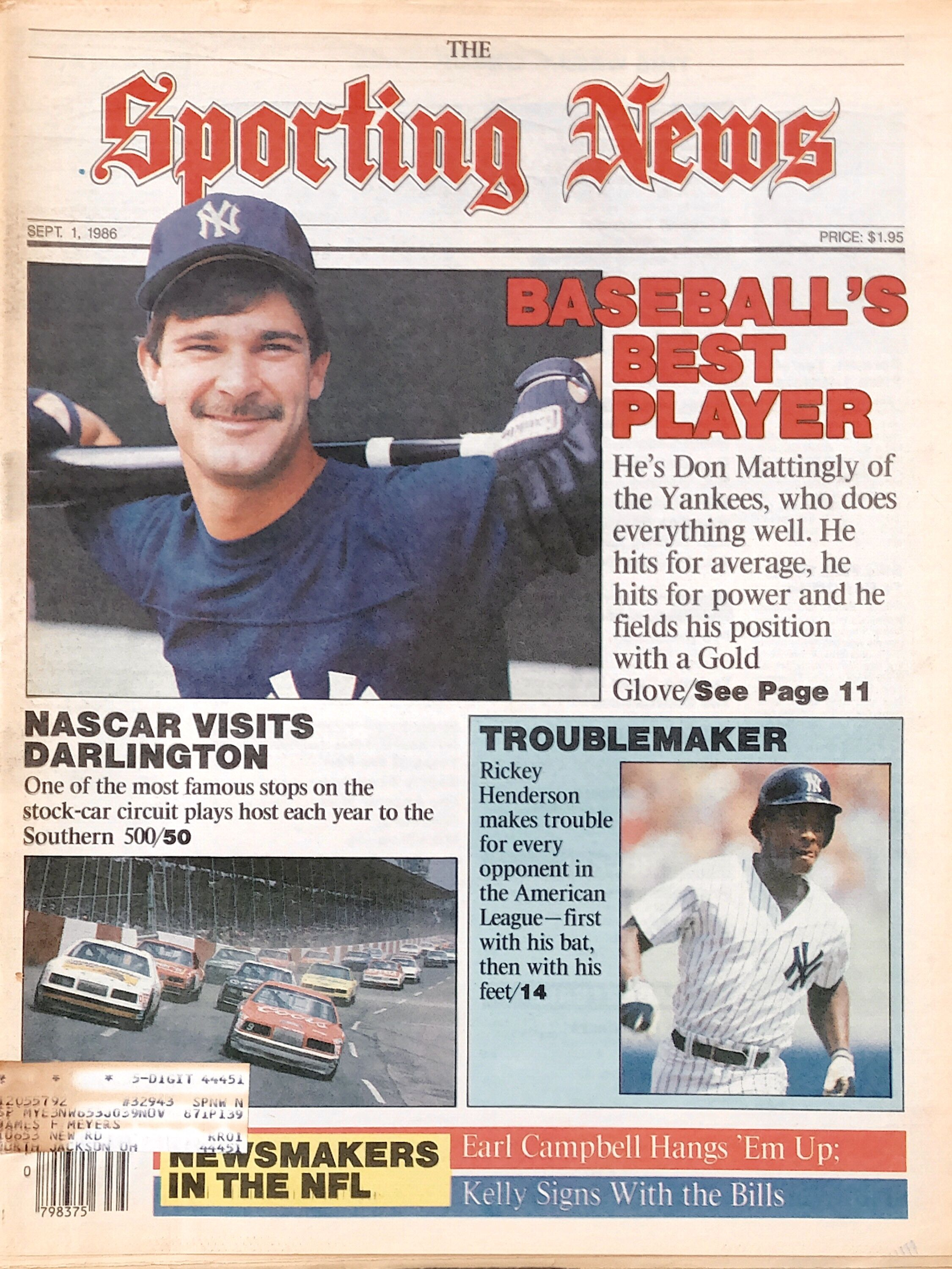 Sporting News Had It Right In Sept 1986 Don Mattingly Was The Man Don Mattingly Sports New York Yankees