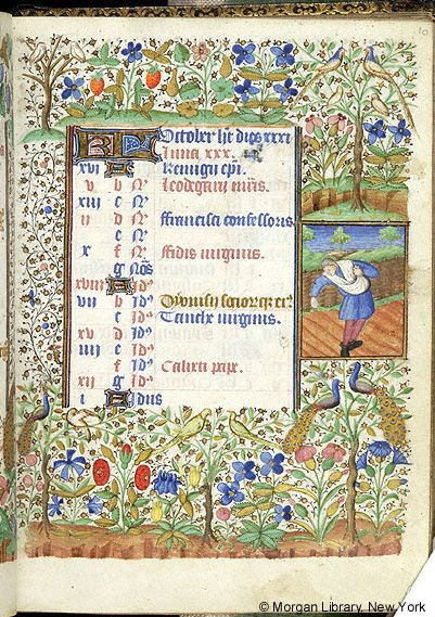 October 1 - Book of Hours - France, Angers or Nantes, ca. 1440 - M ...