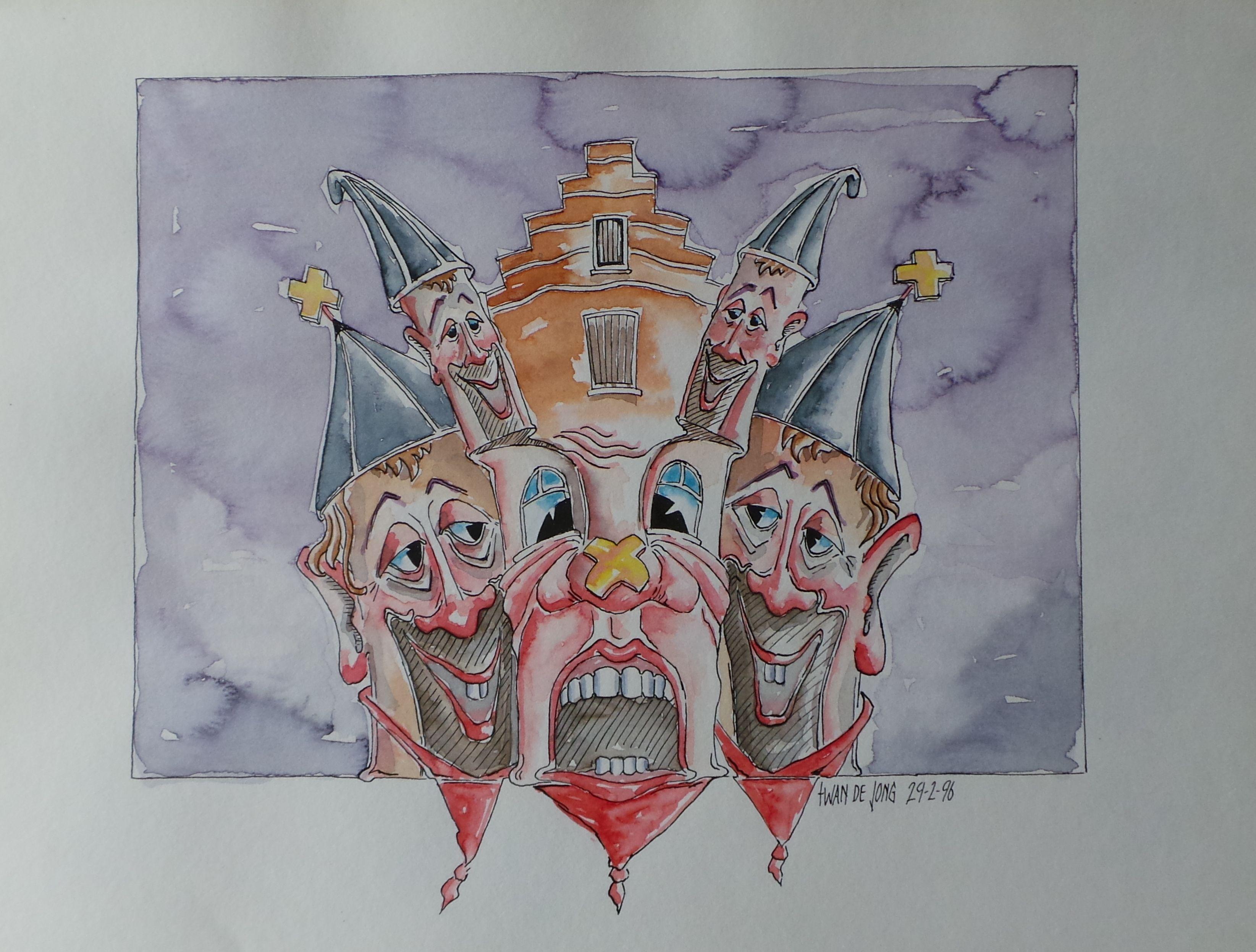 Vastenavend Krabbegat By Toine De Jong Geschiedenis Bergen Schilderij