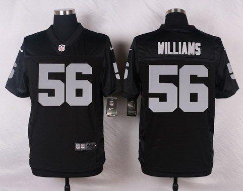Men's Oakland Raiders #56 Chase Williams Black Team Color NFL Nike Elite Jersey