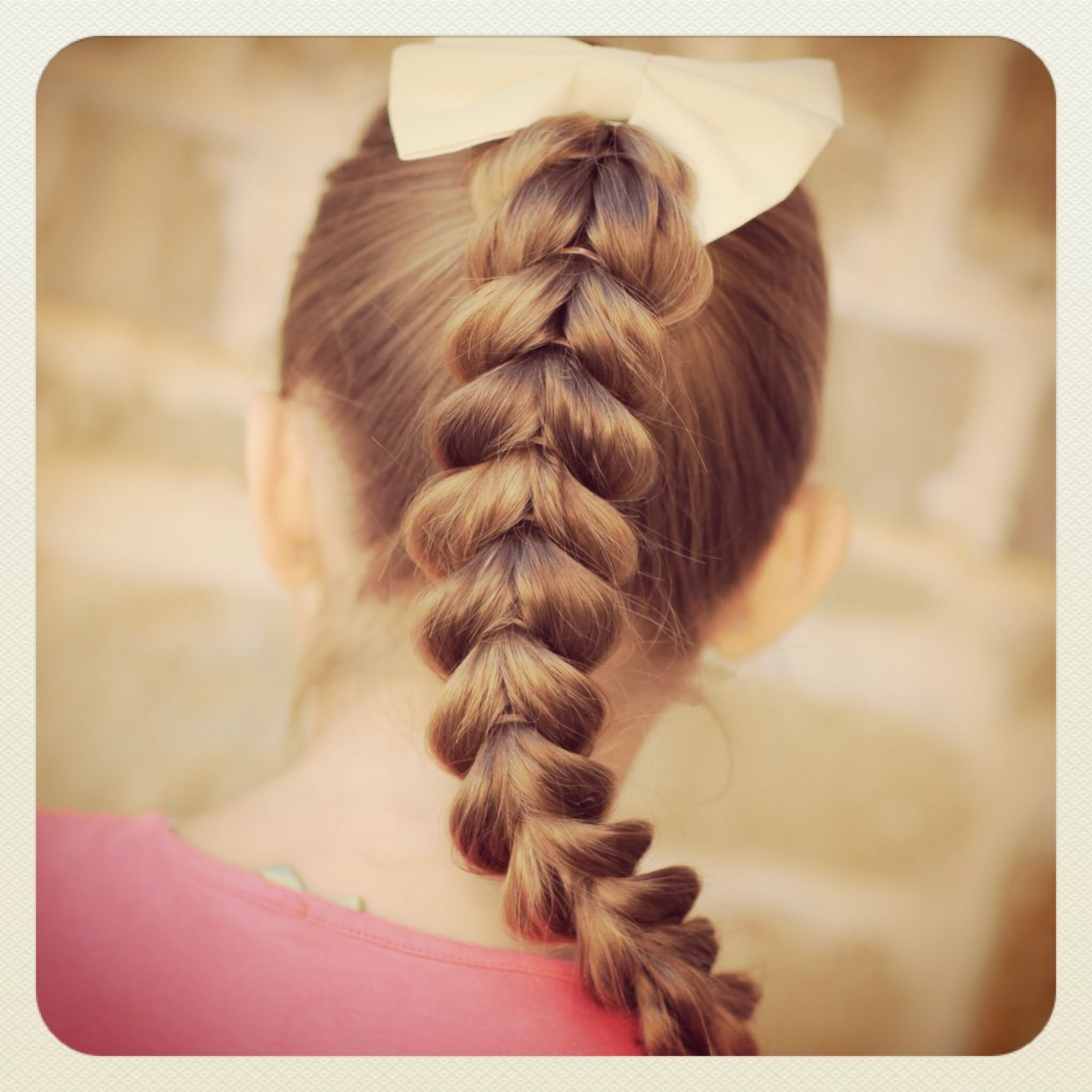 Cute easy hairstyles that kids can do - Plus This Pull Through Braid Is So Easy Even A Daddy Can Do Easy Braided Hairstylescute