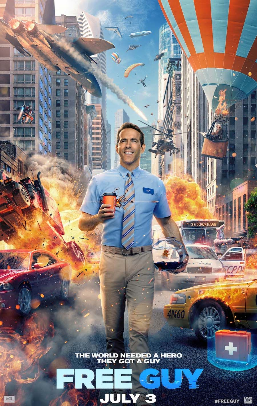 Ryan Reynolds stars in Adventure Comedy 'Free Guy' Ryan