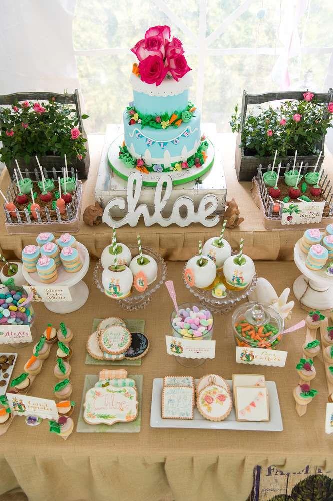 Peter Rabbit Birthday Party Ideas Dessert Tables On