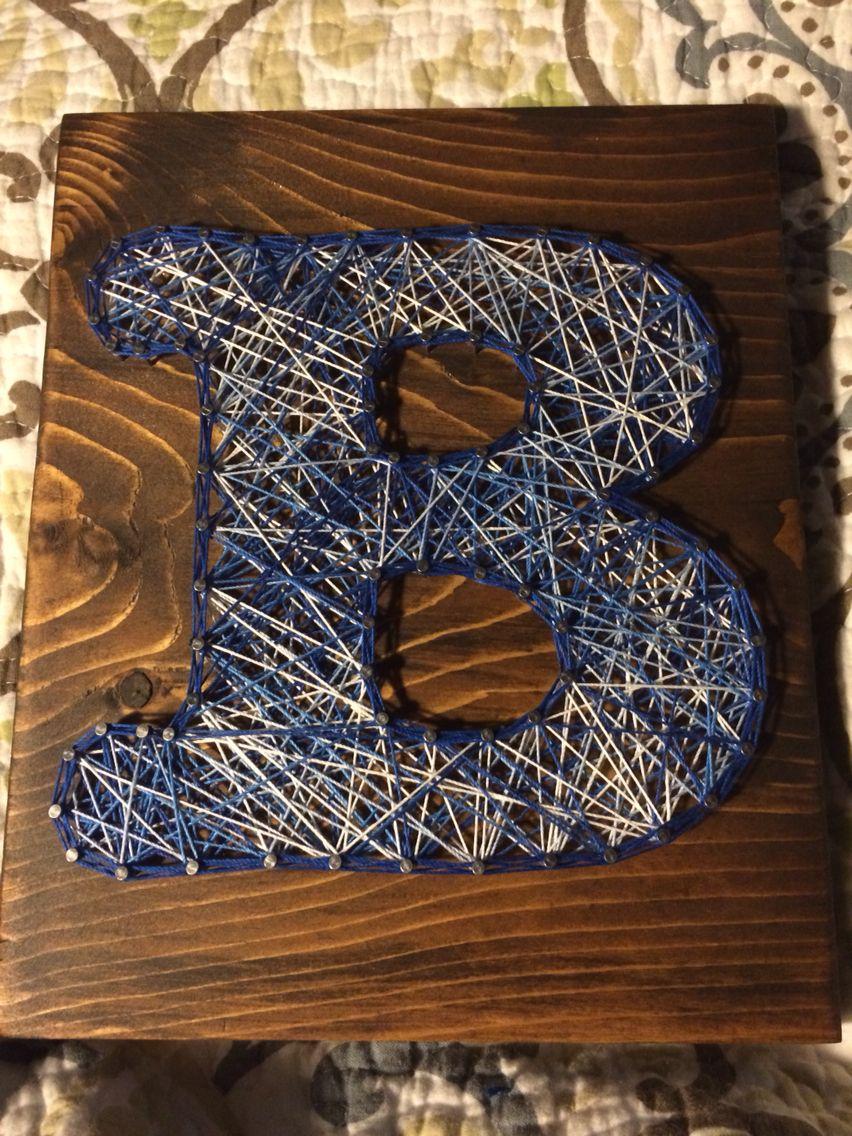 Yarn art color garden - Letter Initial String Art Order From Kiwistrings On Etsy Www Kiwistrings
