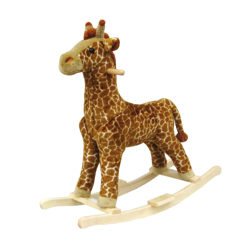 Amazon Com Happy Trails Giraffe Plush Rocking Animal Toys Games