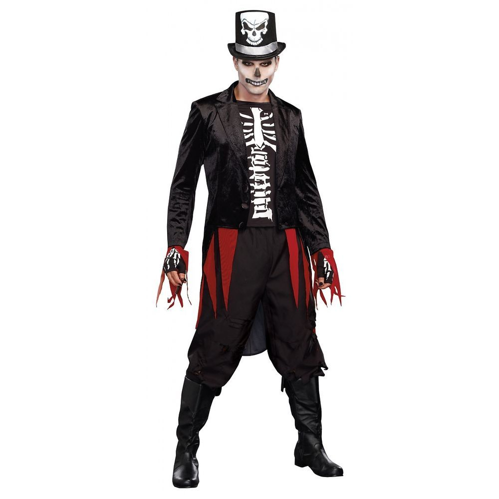 Details about Voodoo Costume Adult Skeleton Witch Doctor Halloween ...