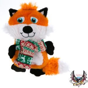 Bret Michaels Pets Rock Pet Holiday Funky Fox Dog Toy Stuffing