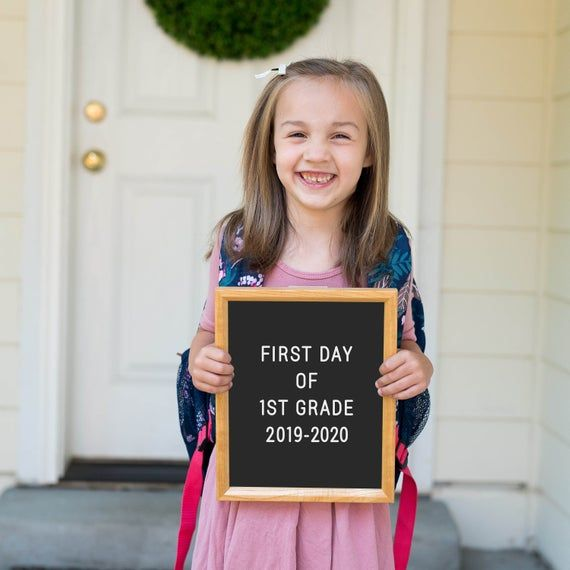 First Day of 1st Grade and Last Day of 1st Grade Bundle, 1st Day of School Sign, First Day Printable #firstdayofschoolsign