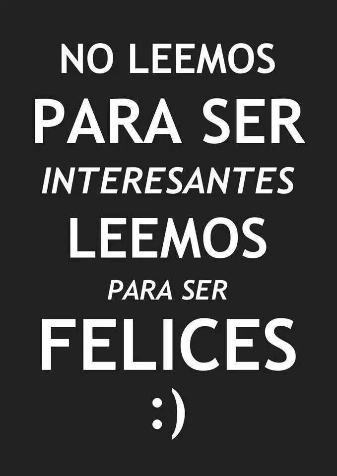 Leer para ser feliz.