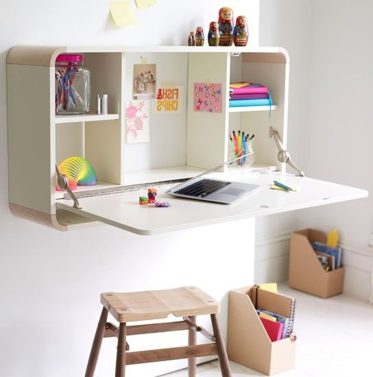 Spacious Wall Mounted Desk Fold | Wabansia Apt | Pinterest | Wall ...