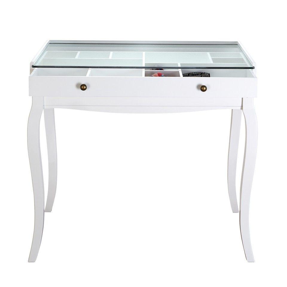 Mesa Consola Lone 80×84 Vintage Blanco Muebles Jysk  # Muebles Einstein