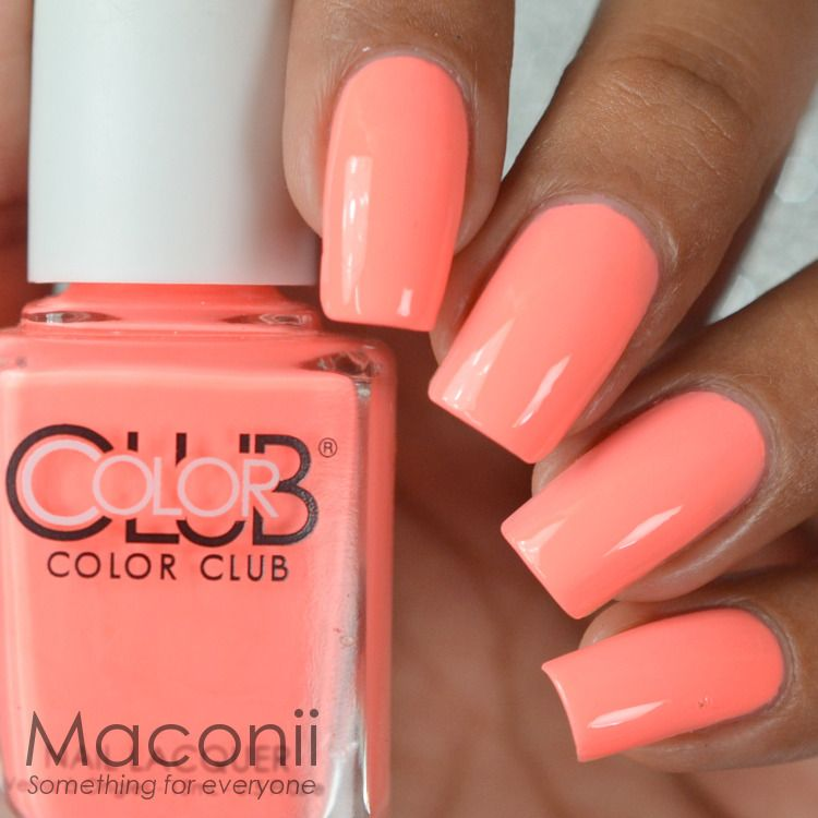 $8.0 AUD - Color Club - East Austin - Bright Peach Pink Coral Creme ...