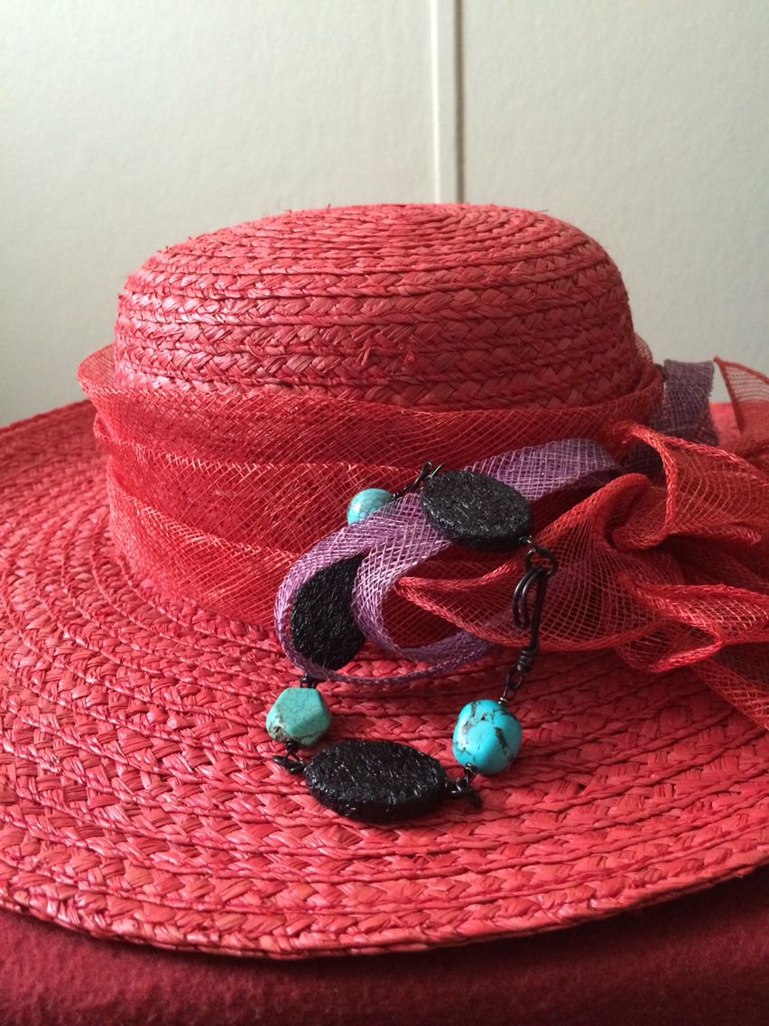 Red,black&turquoise