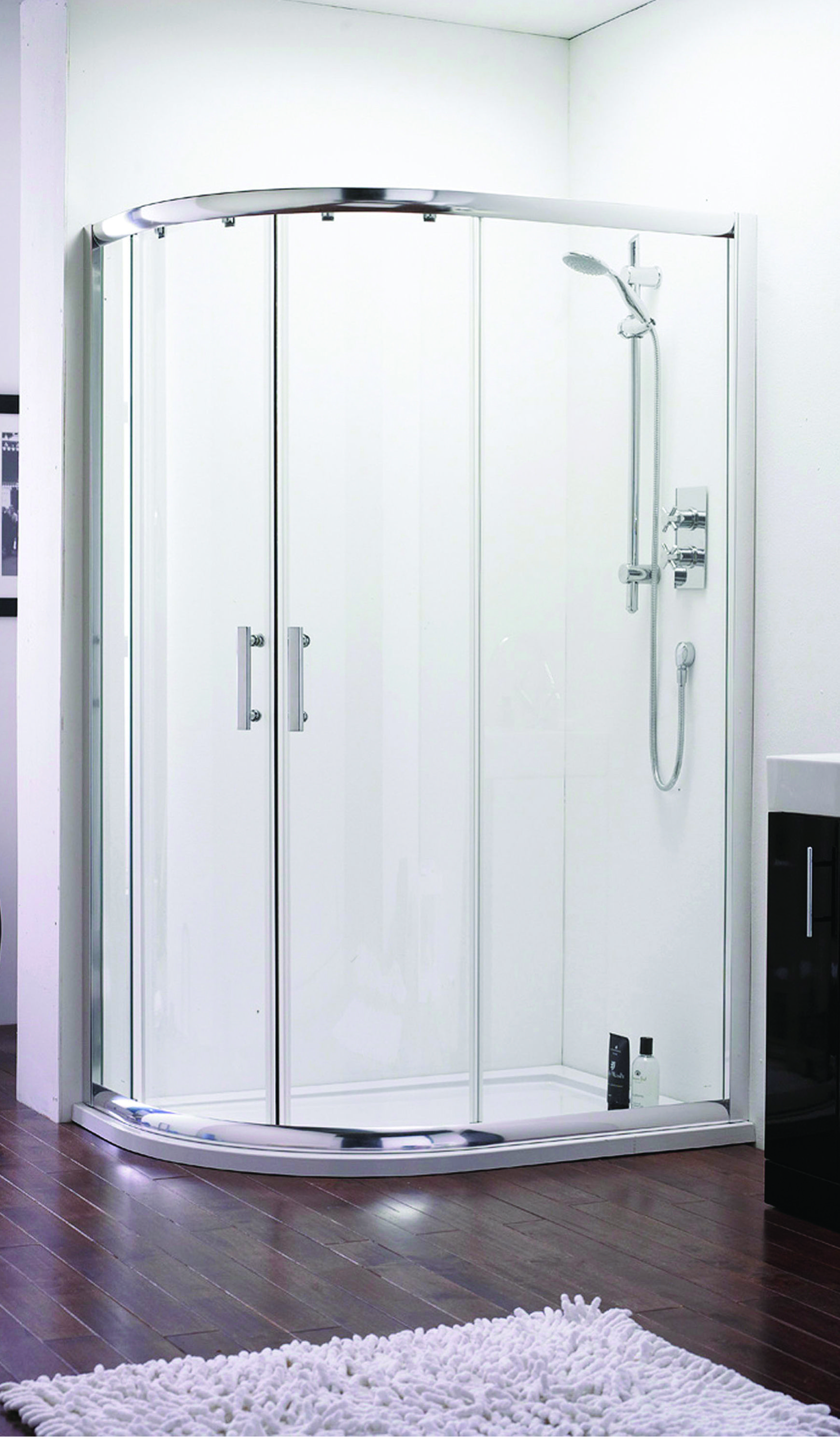 The ICE Offset Quadrant Shower Enclosure available in various sizes ...