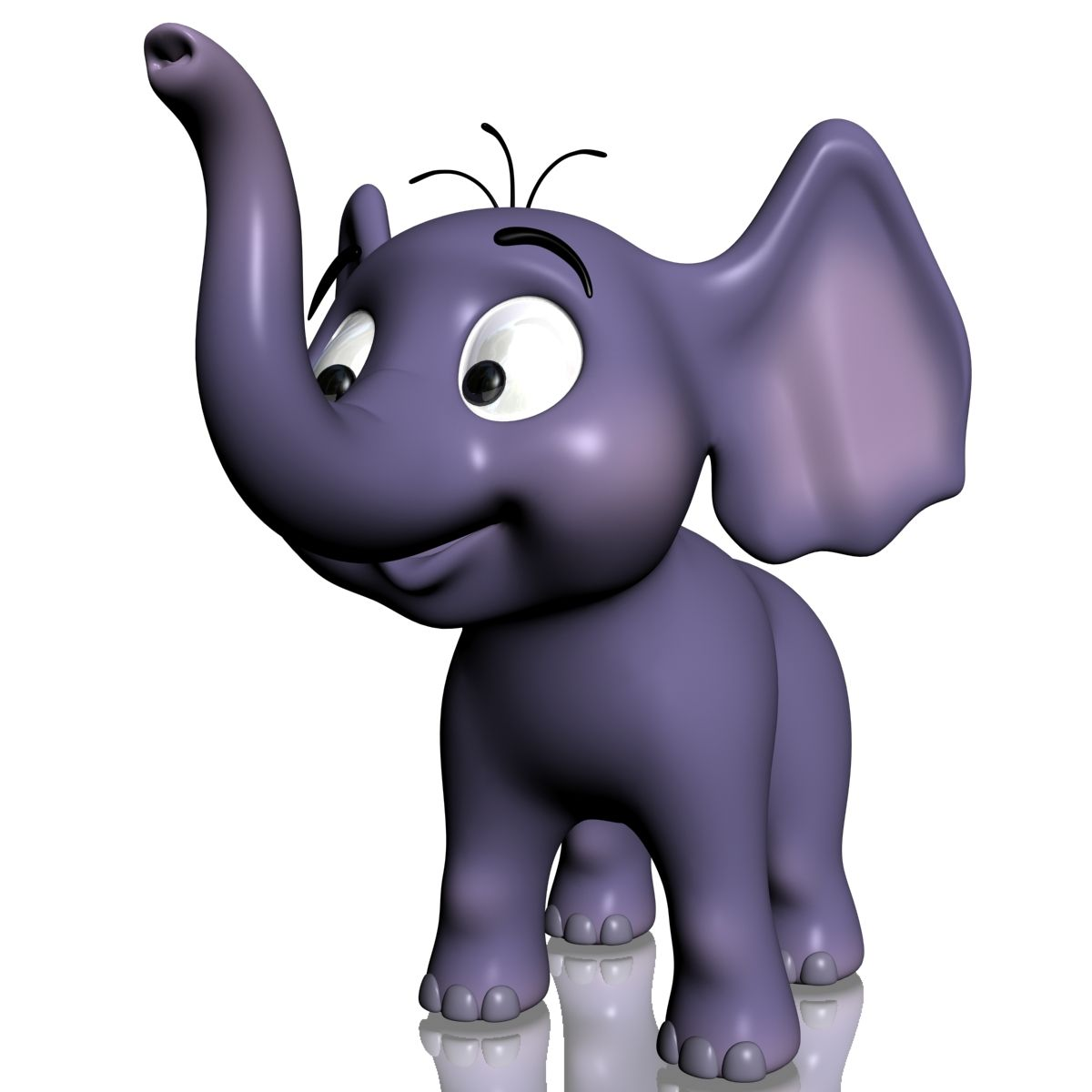Elephant 3d Model Baby Cartoon Baby Elephant Cartoon