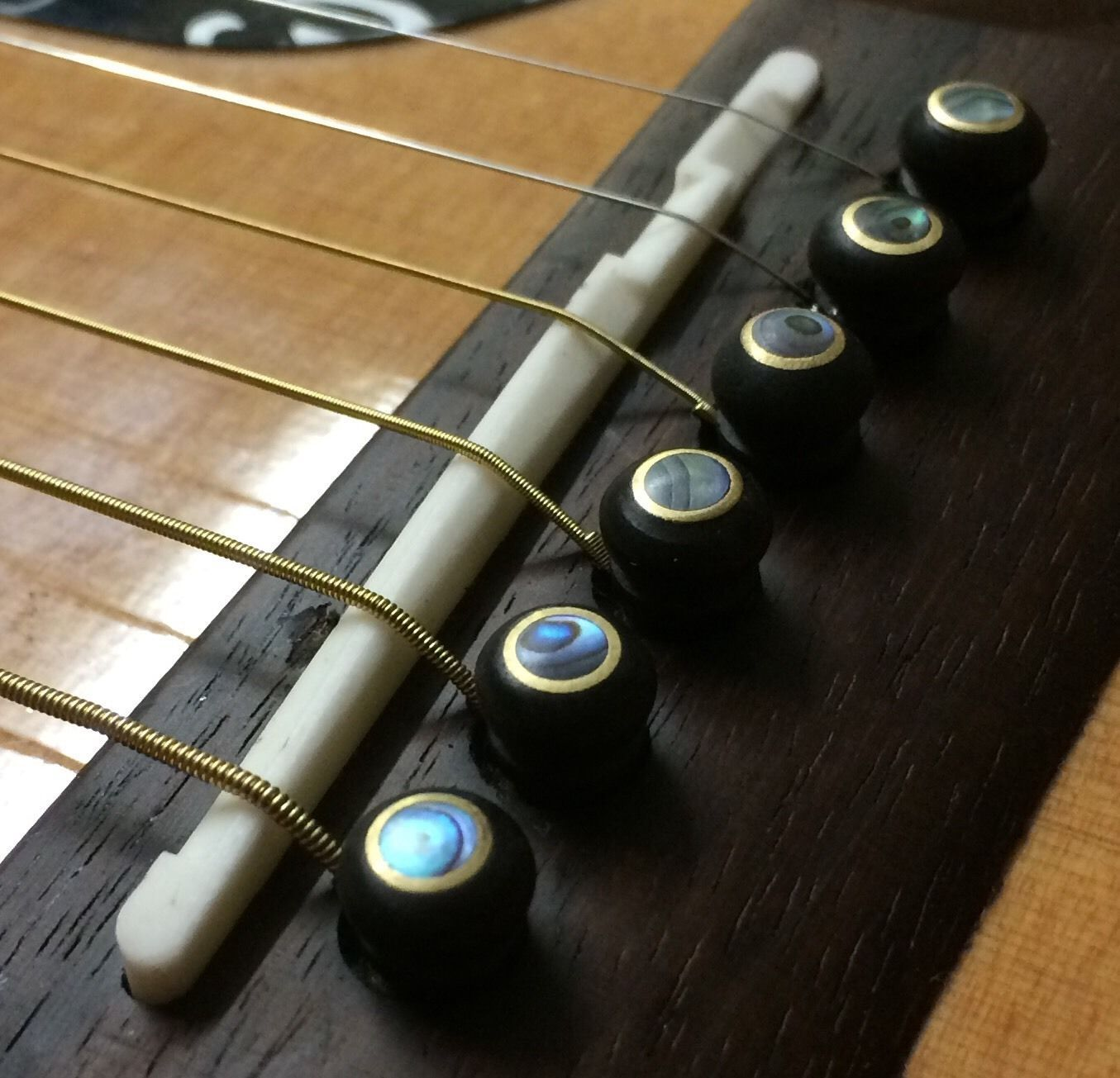 Snazzy Ebony Abalone Brass Guitar Bridge Pins Add The Finishing Touch To You Acoustic Guitar Upgrades Acoustic Guitar Strings Acoustic Guitar Guitar
