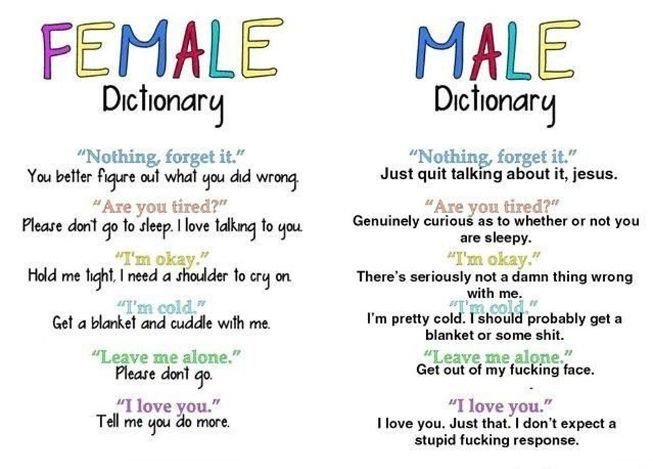 Funny Quotes About Love  Female And Male Dictionary -3563