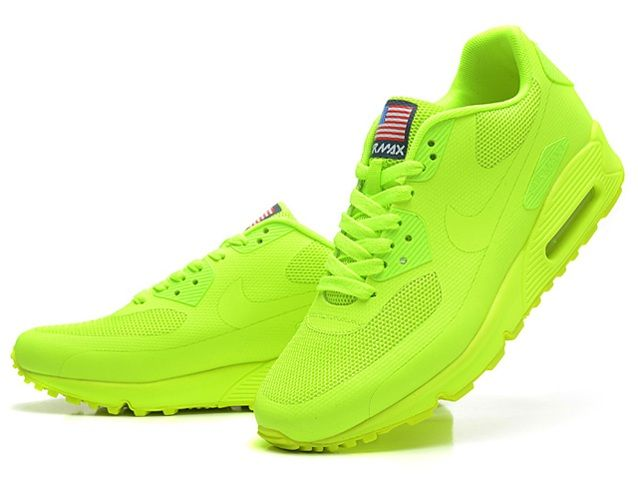 Purchase Nike Air Max 90 Hyperfuse QS Womens All Lemon Green Shoes