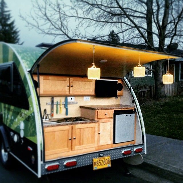 T B Teardrop Camper Owner Gets Creative Luci Lux Warm Frosted