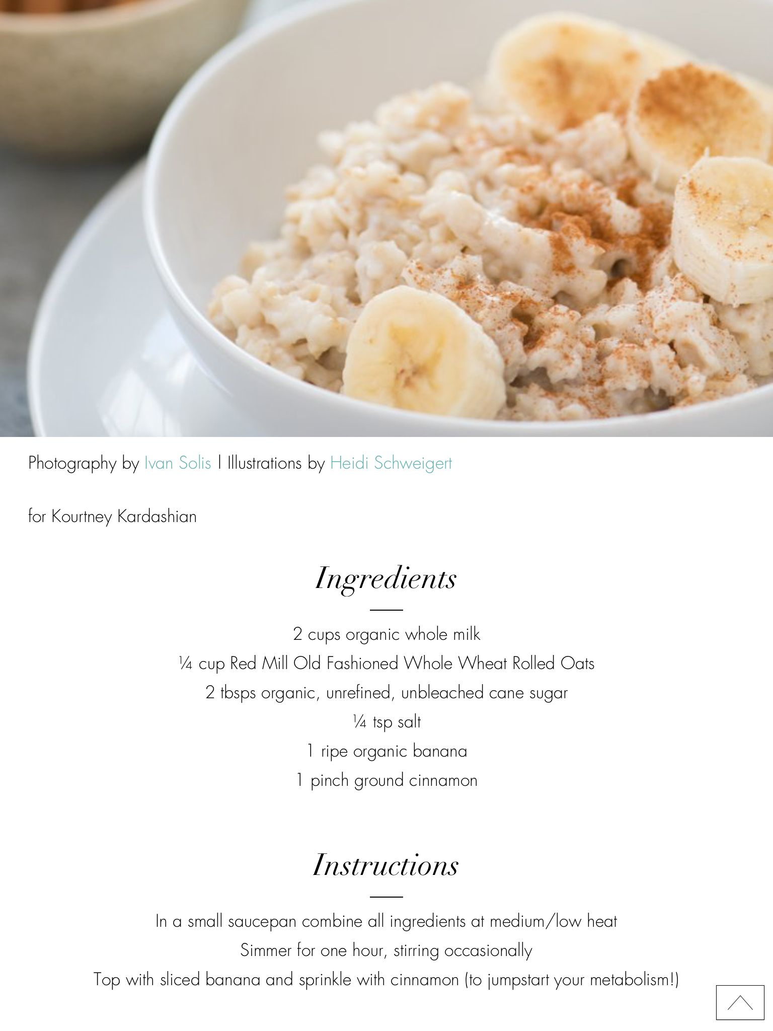 Oatmeal- Kourtney Kardashian | weight loss plan | Food ...