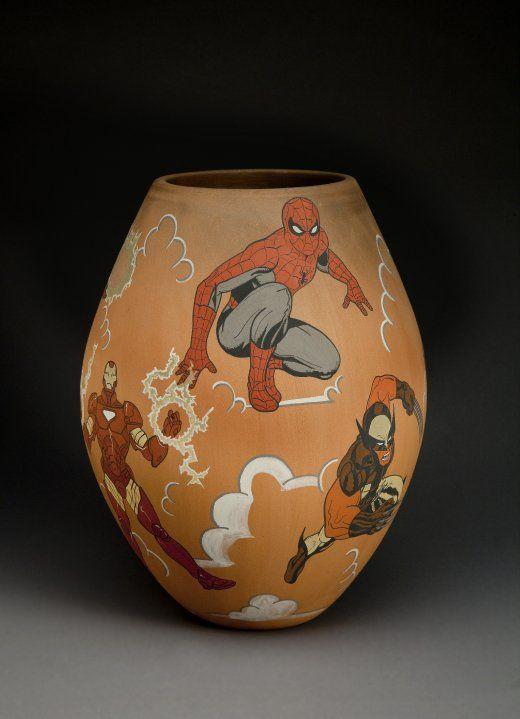 Pop! Popular Culture in American Indian Art Exhibition dates: April 2010 - April 2011 Jason Garcia Santa Clara Pueblo, b. 1973 [Hero Jar], 2010 Ceramic
