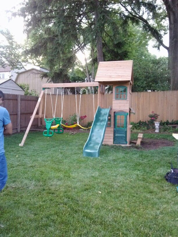 Big Backyard Windale Playset from Toys R Us installed in ...
