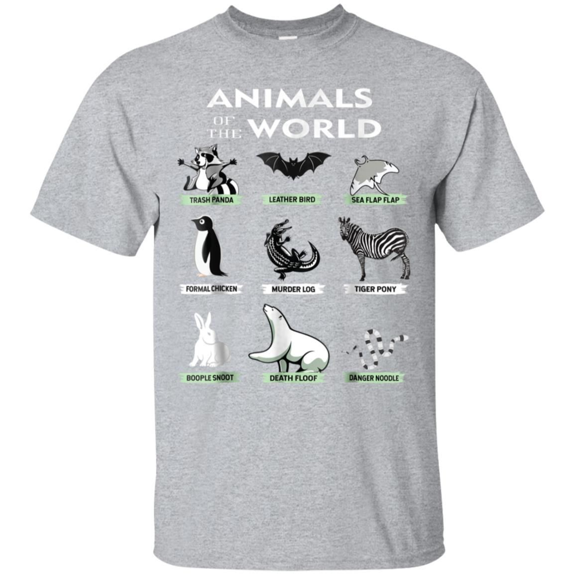 3a4b66f4 99promocode Animals Of The World T-Shirt Funny Animal Real Names