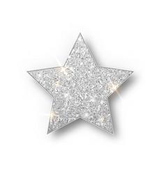 Silver Glitter Star Isolated Silver Silver Stars Stars Silver