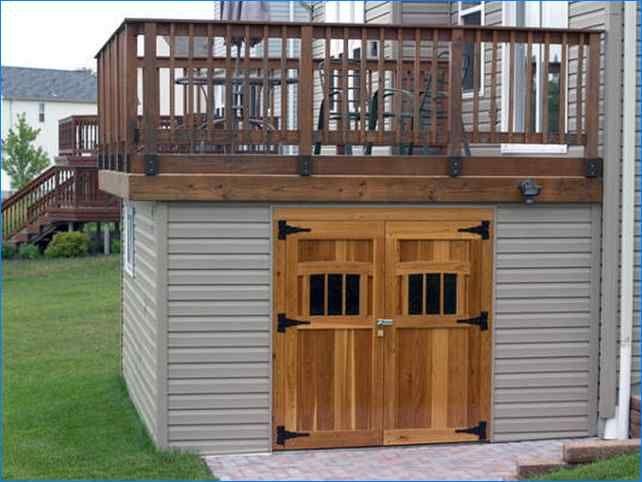 Under deck storage sheds storage home improvement for Best builders workshop deck