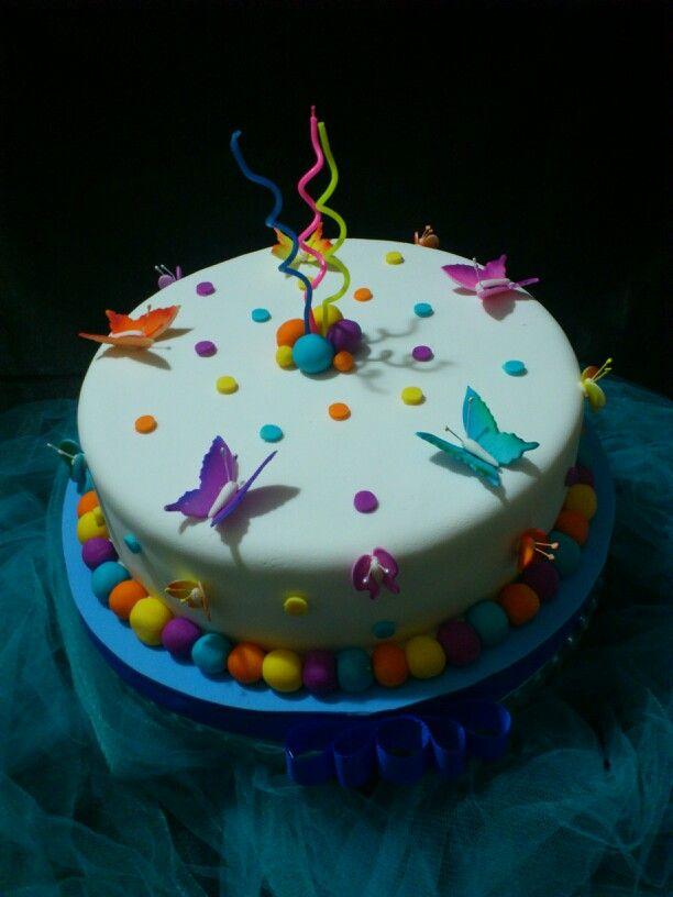 Torta mariposas cakes pasteles para ni os de - Bizcocho cumpleanos para ninos ...