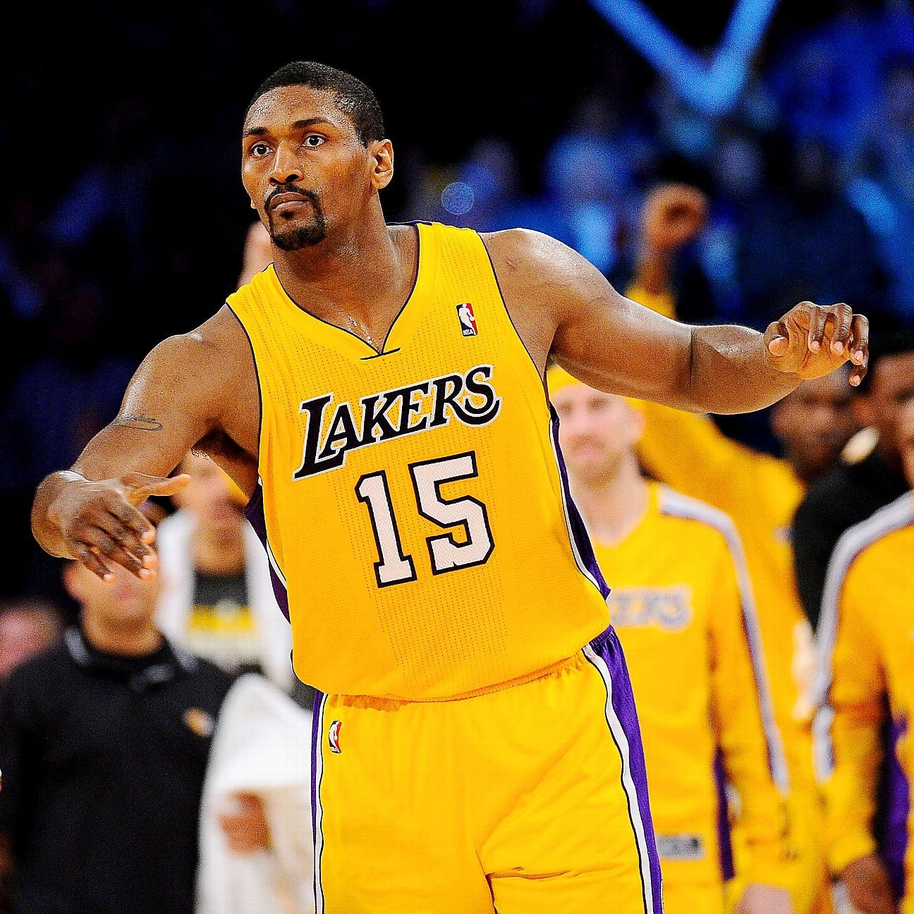 Metta World Peace To Be On Los Angeles Lakers Roster Lakers Roster Metta World Peace Los Angeles Lakers Roster