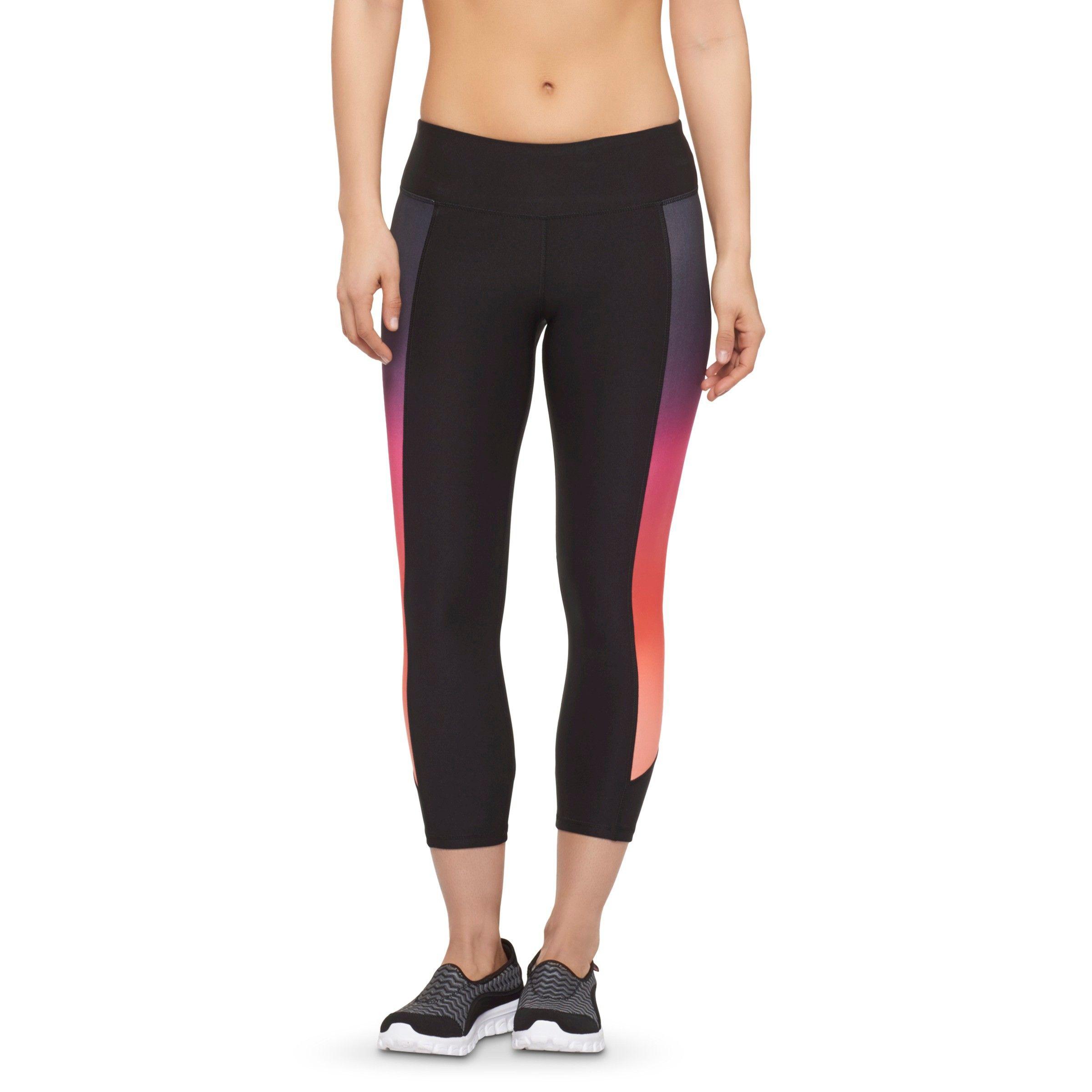 Women's Multi-Color Ombre Insert Yoga Capri - RBX : Target
