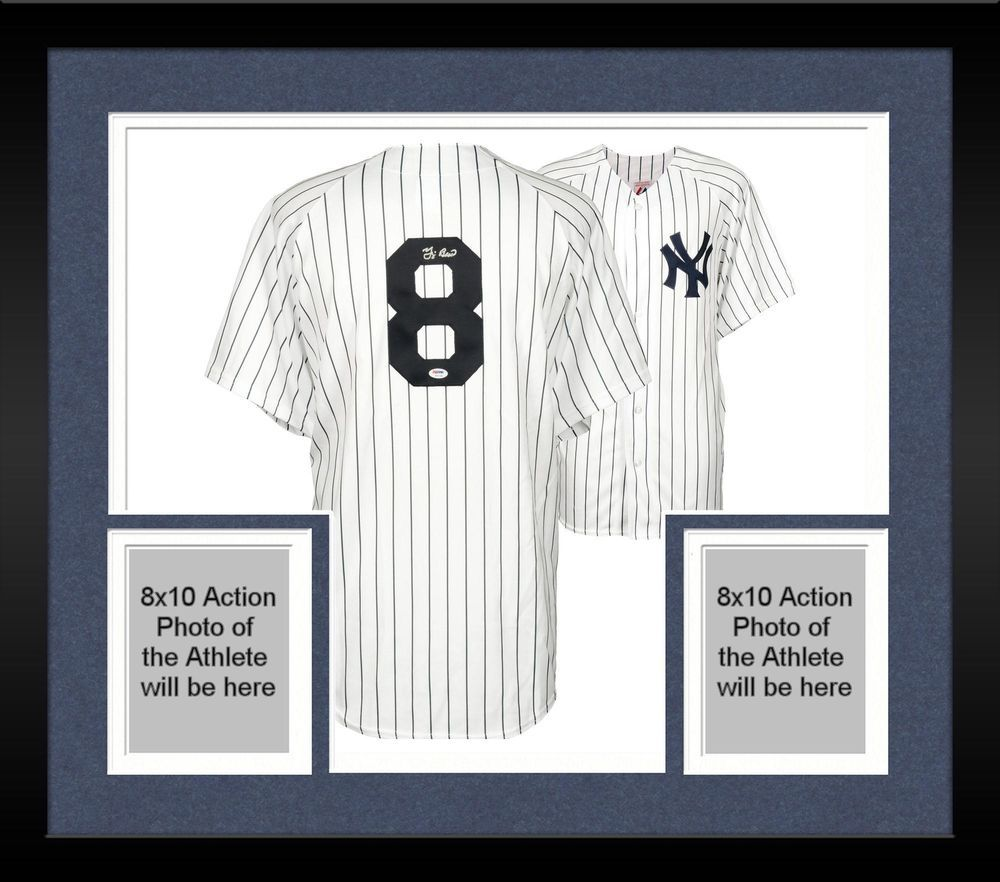 Framed Yogi Berra New York Yankees Autographed White Majestic Jersey ...