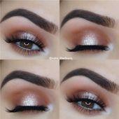 14 ideas de maquillaje de ojos brillantes para ojos impresionantes: peinados y maquillaje …