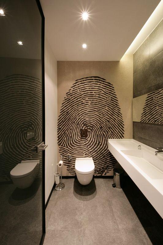papier peint original ateliers couleurs d co maison pinterest g ste wc gast und. Black Bedroom Furniture Sets. Home Design Ideas