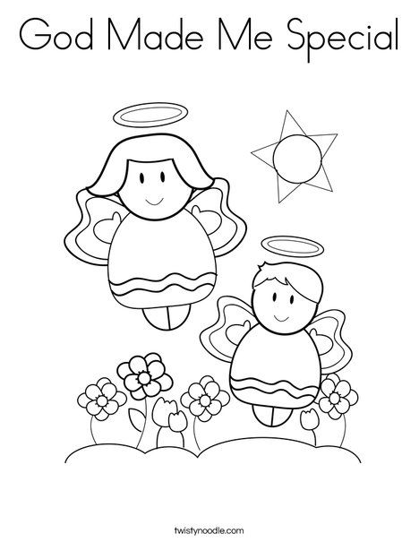God Made Me Special Coloring Page Twisty Noodle With Images