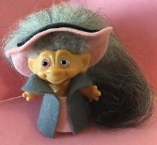 """Vintage 1960's Restored Unmarked 2.5"""" Troll High Society Custom 2 pc. outfit"""
