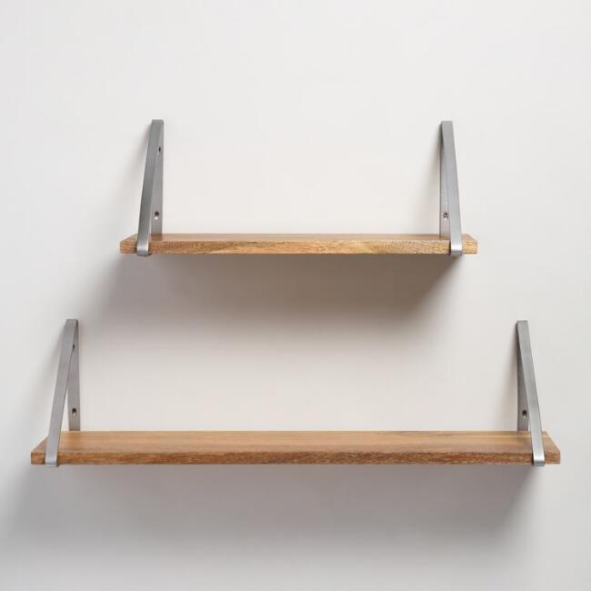 Natural Wood Mix Match Wall Shelf Collection V1 Wall Shelves