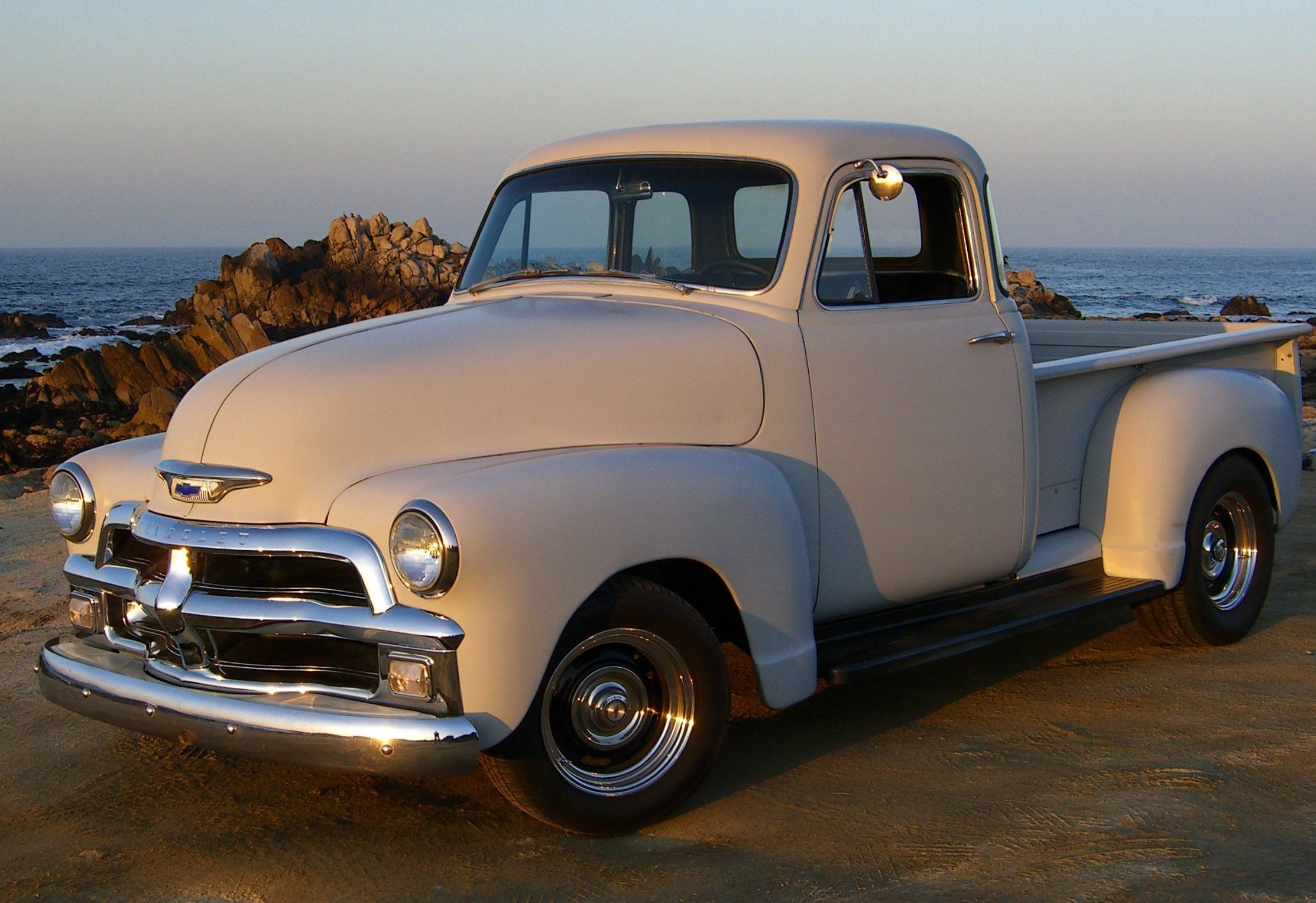 1955 first series identical to the 1954 model year except redesigned hood side