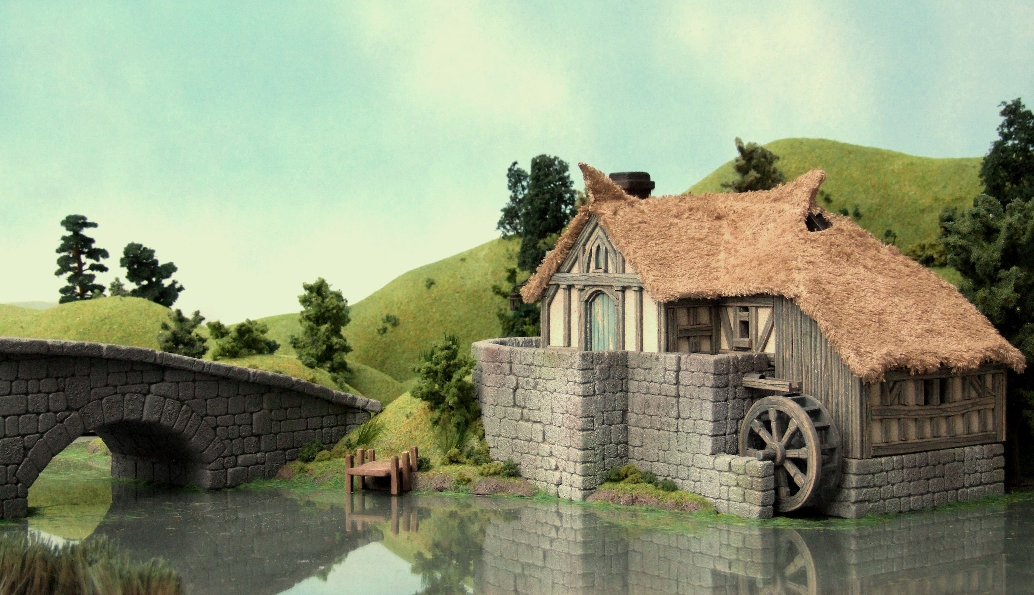 lord of the rings hobbiton mill dioramas pinterest milling dioramas and miniatures. Black Bedroom Furniture Sets. Home Design Ideas