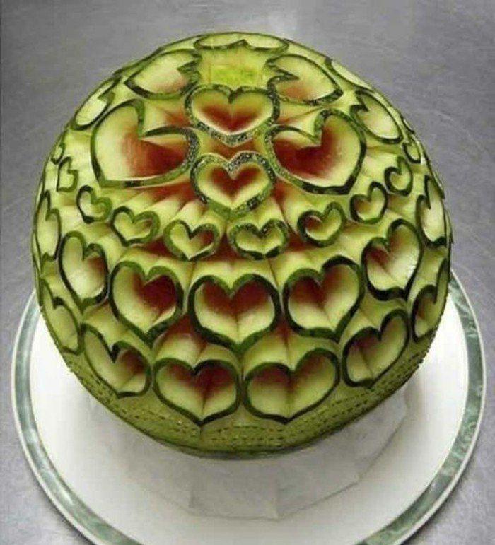 1001 id es de sculpture sur fruits et l gumes past que melon et figurine - Sculpture sur fruit ...