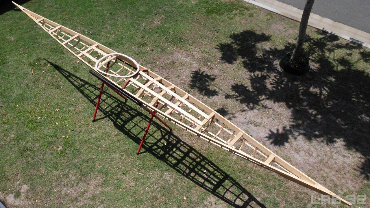 Skin on frame kayak plans - Skin On Frame Kayak Frame Completed Prior To Skinning