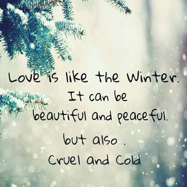 Love Is Like The Winter love love quotes quotes quote winter love