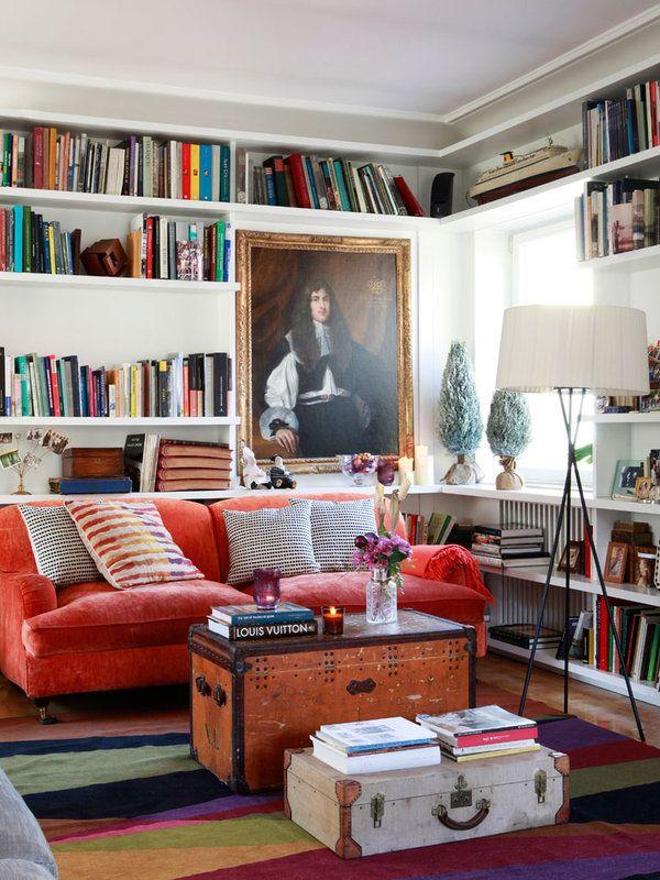 Estanteras para organizar una biblioteca en el saln Shelves