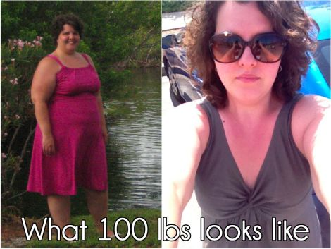 What 100 lbs looks like. Before and After   Christine at Salt & Twine